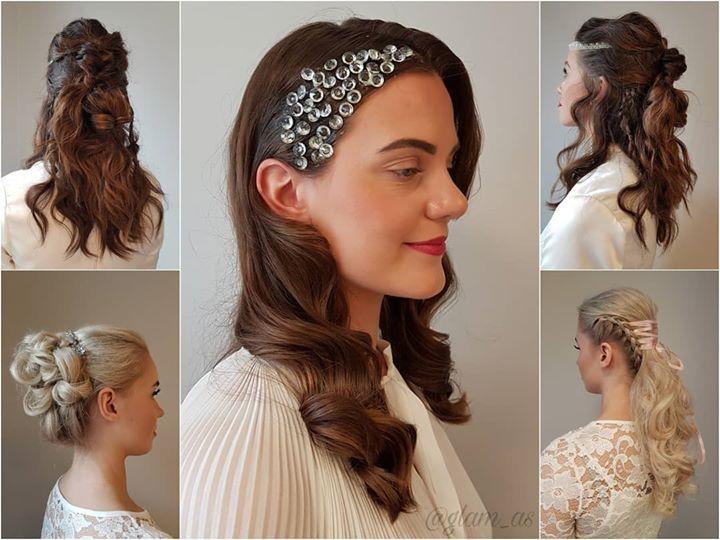 Her ser dere noen av de flotte modellene fra brudestyling-kurset @hairbymalinregina og @hairbytinboo deltok…