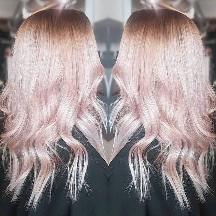 Soft Pink Balayage Frisør: Jill @hairby_jillrenate