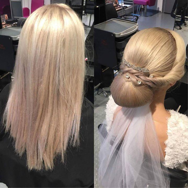 Brudeoppsettet Tina gjorde på sin svenneprøve. Frisør: Tina #hairdresser #updo #bride #hair #glam_as