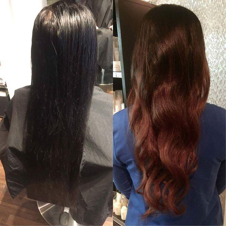 Fra sort til dette på kun en runde. Frisør: Tina @hairbytinboo #makeover #sunlights #nomoreblackhair…