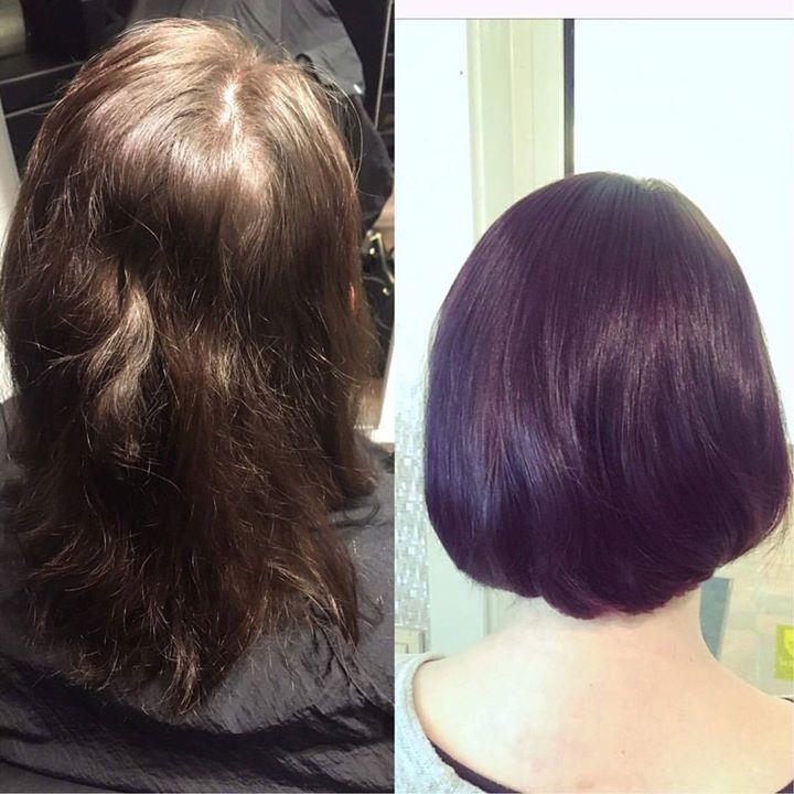 Denne kunden ble skikkelig ny og fresh på håret. ️ Frisør: Tina @hairbytinboo #makeover…