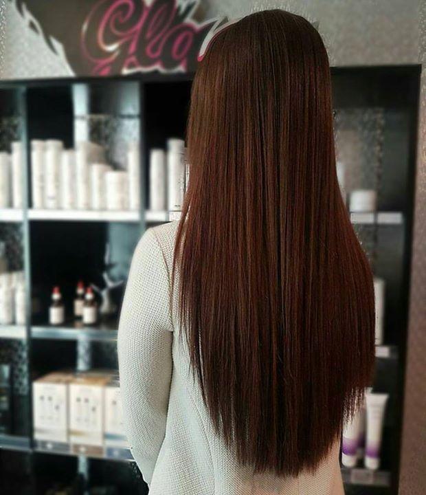 Langt, silkeglatt hår med det fantastiske extension-håret til Kashmere Frisør: Jill @hairby_jillrenate #tapeextension #extensions…