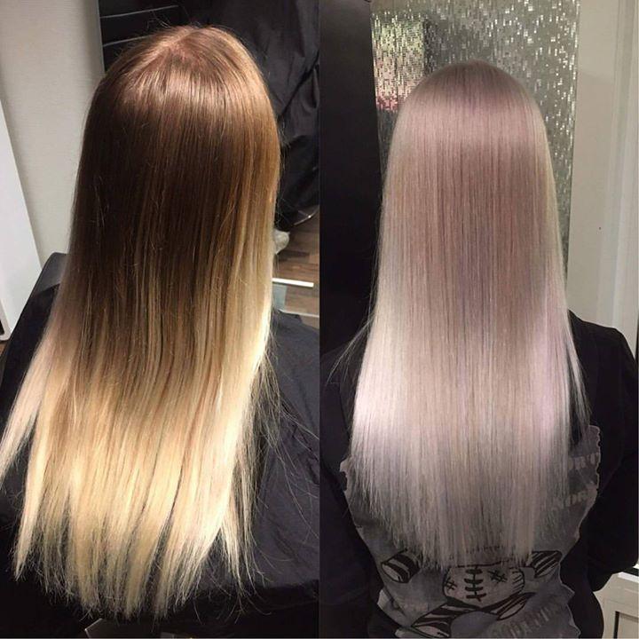 Frisør: Tina @hairbytinboo #makeover #blondor #wellahair #glam_as #blondehair #ash #transformation #hairstylist