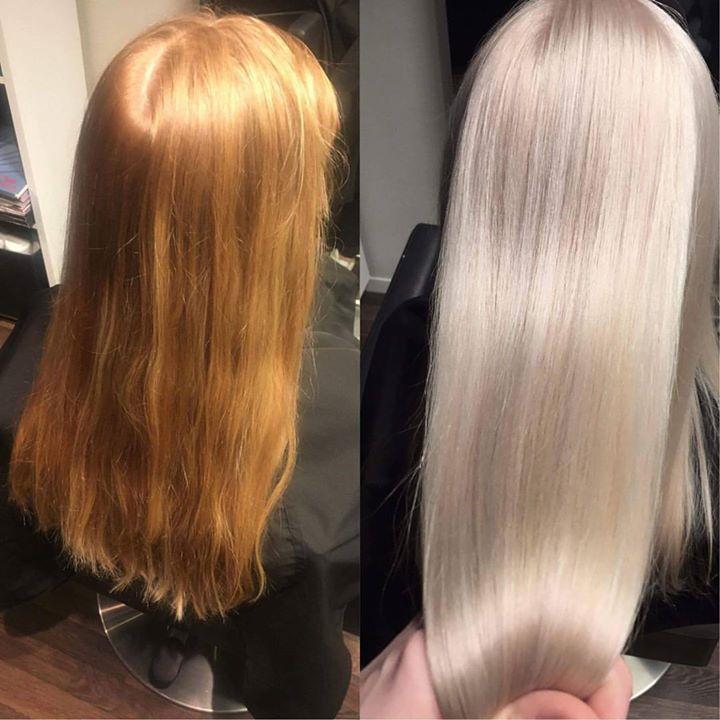 fra blond til brun