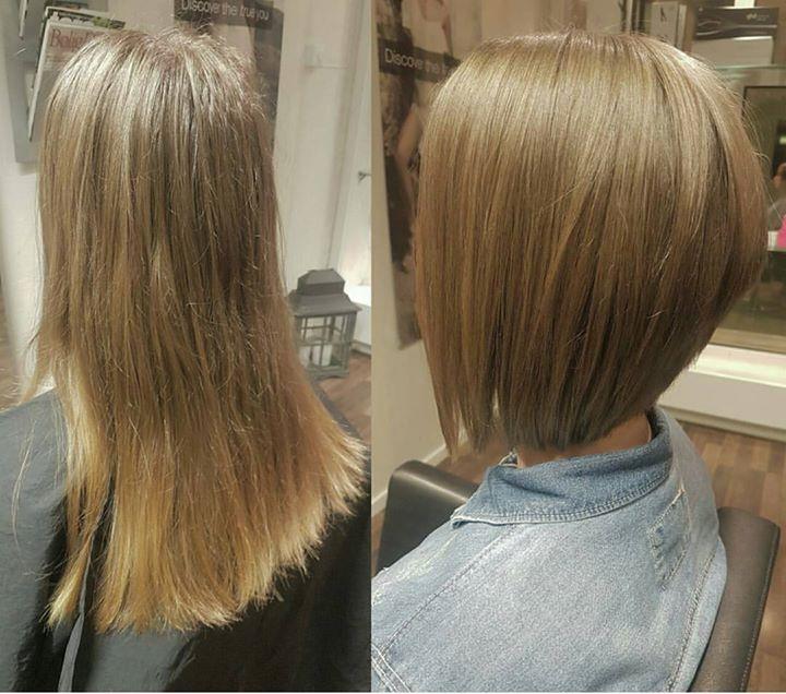 Denne kunden ønsket en forandring. Det ordnet vi selvfølgelig. Frisør: Jill #new #haircut #bob…