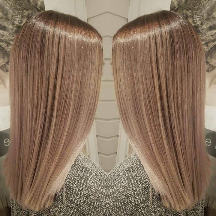 Nydelig farge! Frisør: Jill #new #haircut #newhair #color #illumina #wellahair #glam_as #hairinspiration #hairstylist #tromsøfrisør…
