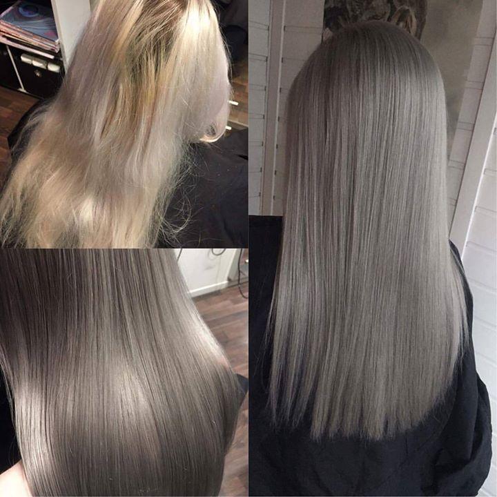 Gray hair don't care Juniorfrisør: Tina #gray #hair #wellahair #juniorhairstylist #glam_as #tromsøfrisør #hairinspiration
