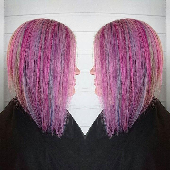 Farger er gøy! Frisør: Malin #fudge #paintbox #crazycolor #glam_as #tromsøfrisør #hairinspiration #welovehair #semipermanente
