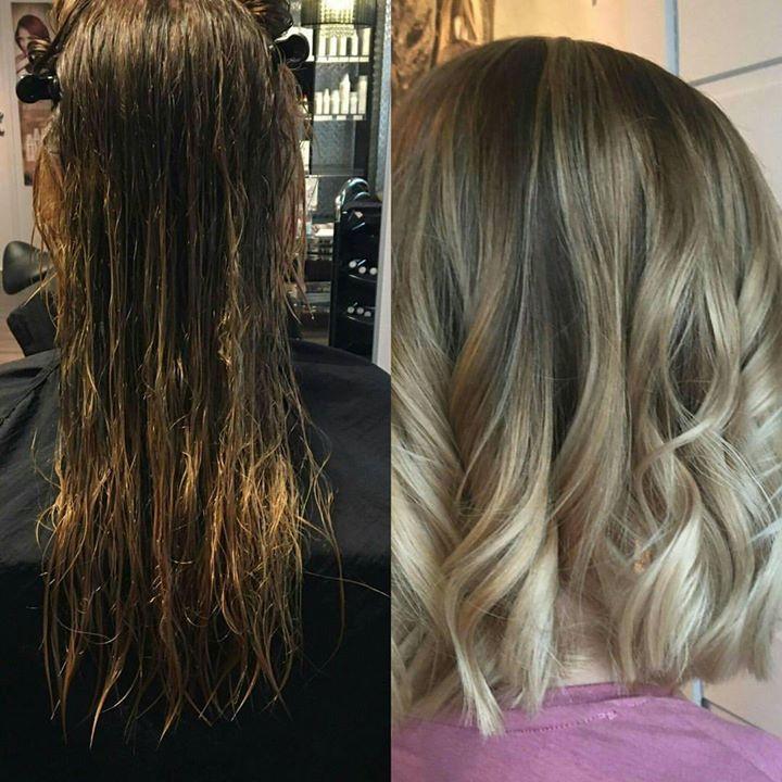 Kortere hår og ny herlig farge. ️ Juniorfrisør: Camilla #balayage #freehand #painting #sunlights #sunlightsnorge…
