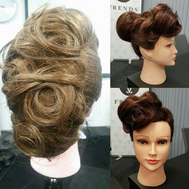 Idag var Jill og Malin på kurs med Hair Construction. Der lærte de div…