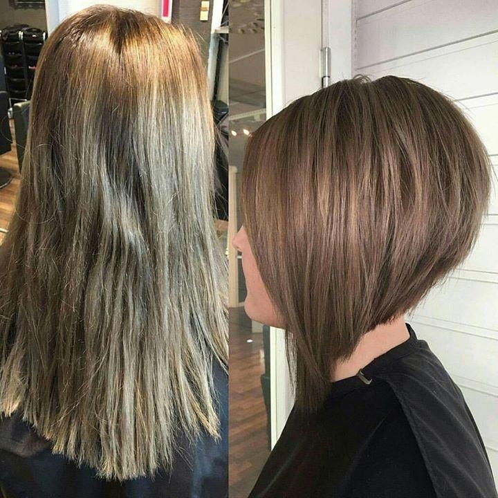 Juniorfrisør Camilla fikk ny frisyre her om dagen. ️ Frisør: Jill #new #haircut #newhair…