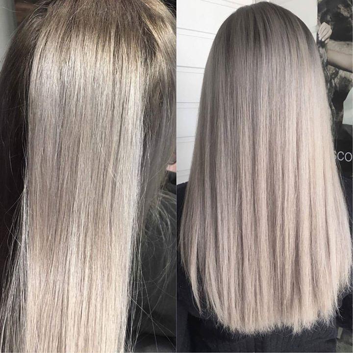 Nydelig gråtone Juniorfrisør: Tina #illumina #wellahair #wellalife #glam_as #tromsøfrisør #hairinspiration #grey #hair #juniorhairstylist