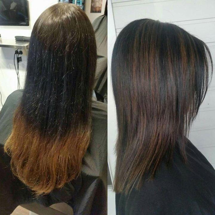 Ny farge og ny frisyre Frisør: Jill #highlites #brunette #wellahair #wellalife #glam_as #hairstylist #tromsøfrisør…
