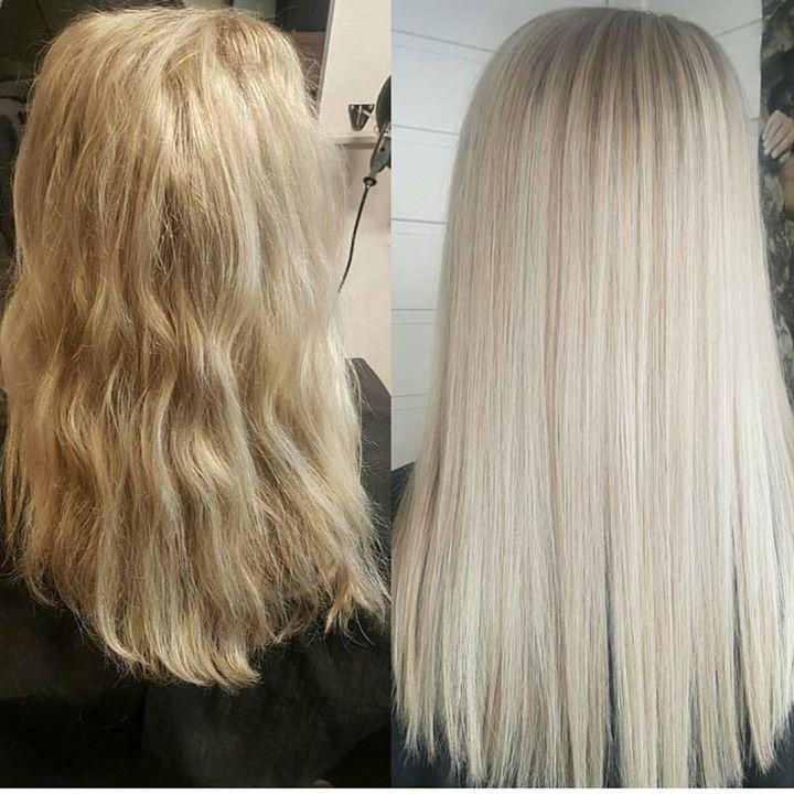 Nydelig blondfarge! Frisør: Jill #olaplex #olaplexno #blondor #glam_as #tromsøfrisør #hairinspiration #welovehair #wellahair #hairstylist #blonde…