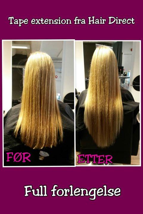 Langt hår til sommeren? Vi har tape extension fra Hair Direct, full forlengelse til…